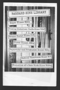 Barnard Zine Library – New York